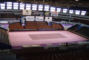 Atp Tennis Stars Play On Supersoft Courts